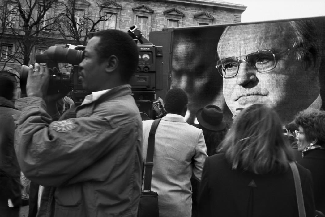 Helmut Kohl. Foto: Guy Le Querrec