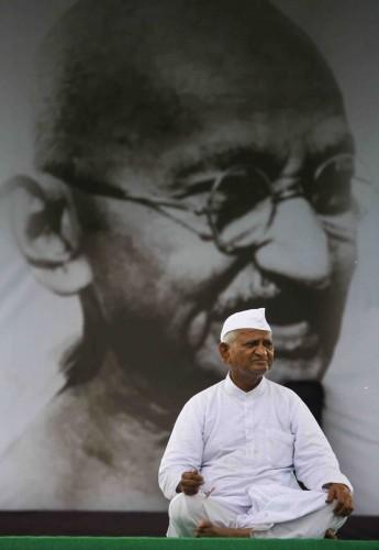 Anna Hazare. Foto: Mustafa Quraishi / AP