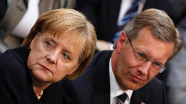 Angela Merkelová a Christian Wullf. Foto: dpa