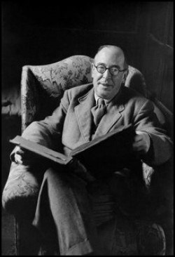 C. S. Lewis, Cambridge, Anglicko, 1958. Foto: Burt Glinn / Magnum Photos