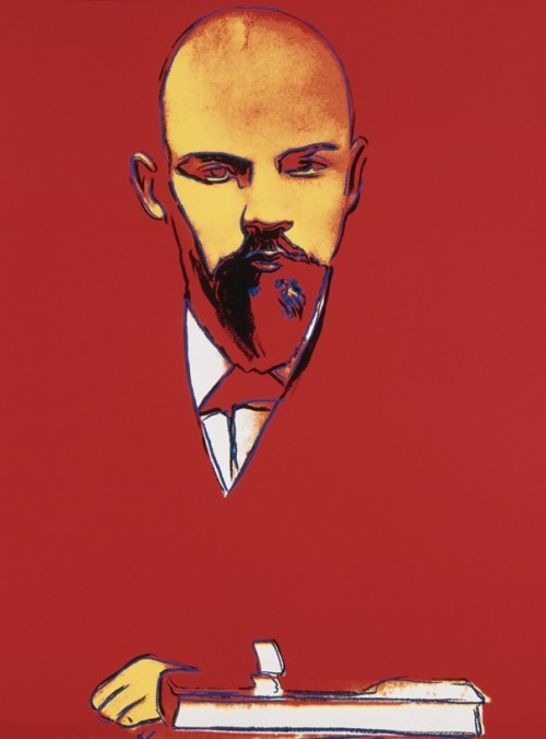 Andy Warhol: Red Lenin, 1987.