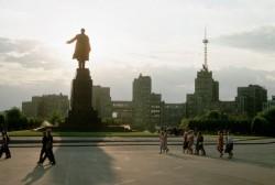 Pomník Lenina v Charkove, Ukrajina, 1967. Foto: Dean Conger / Corbis