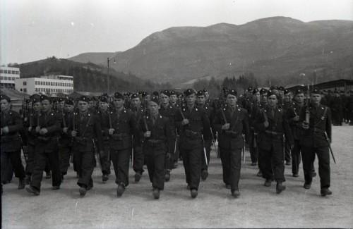 Vojaci Čiernej légie, ustašovskej pechoty zčias Druhej svetovej vojny.