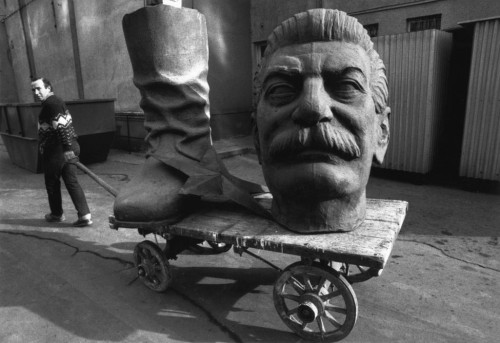 HUNGARY. Budapest. 1990. Dismantled statue of STALIN.